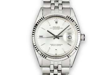 1972 Rolex DateJust 1601 No Lume Sigma Silver Dial photo
