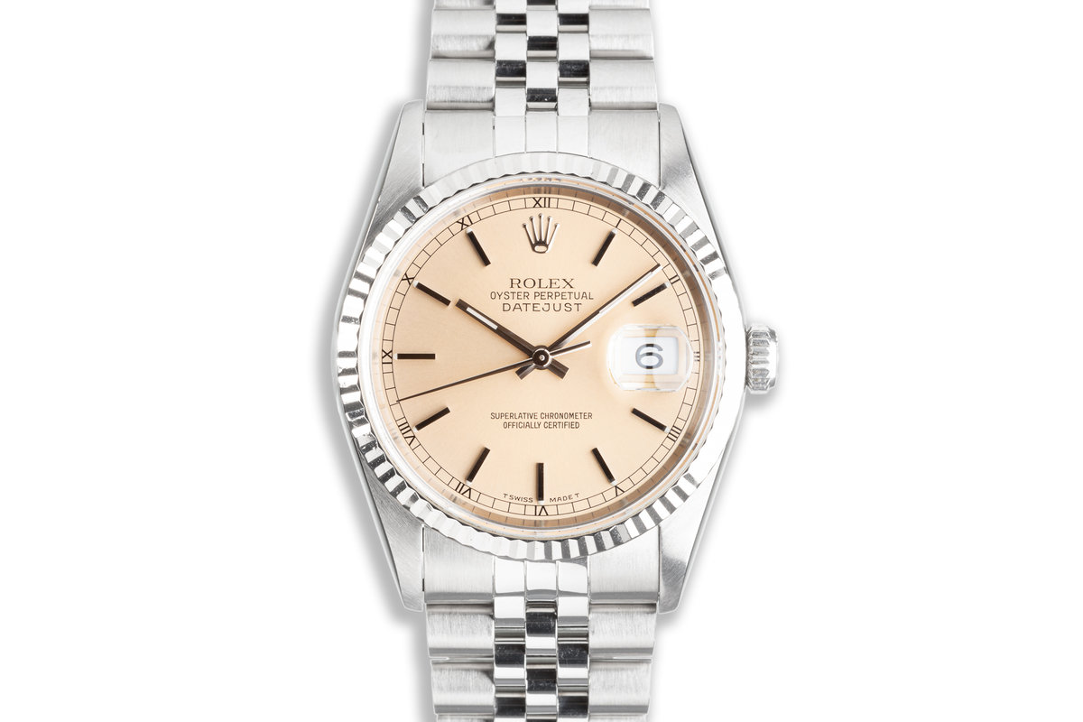 1995 Rolex Unpolished Case DateJust 16234 with Silver Patina Dial photo, #0