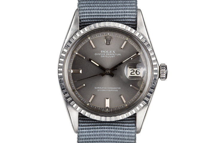 """1968 Rolex DateJust 1603 Grey """"London Sky"""" Dial with White Print photo"""