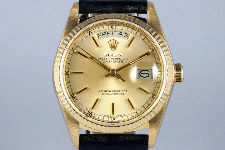 1985 Rolex YG Day Date 18038 photo