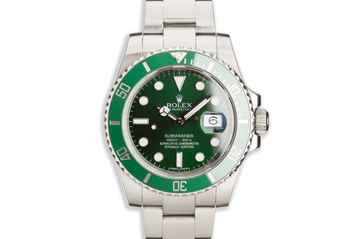 """2012 Rolex Green Submariner 116610LV """"Hulk"""" with Box and Papers photo, #0"""