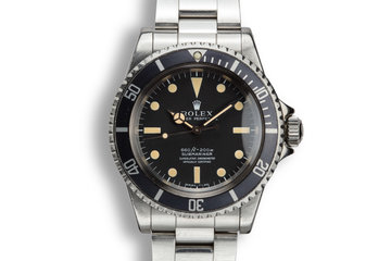 1977 Rolex Submariner 5512 Serif 4 Line Dial photo