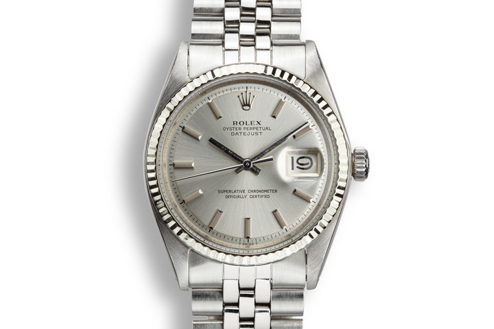 1972 Rolex DateJust 1601 No Lume Silver Dial photo