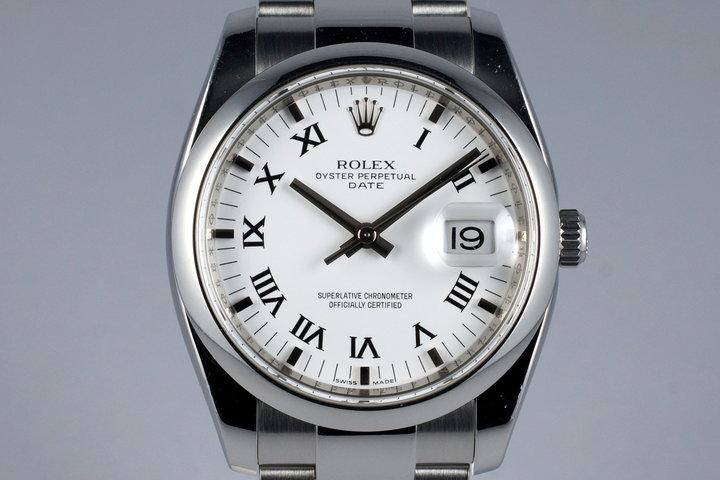 2006 Rolex Date 115200 White Roman Dial photo