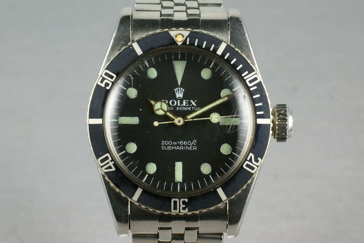 Hq Milton Vintage Rolex Submariner 6538 Big Crown Inventory 1177