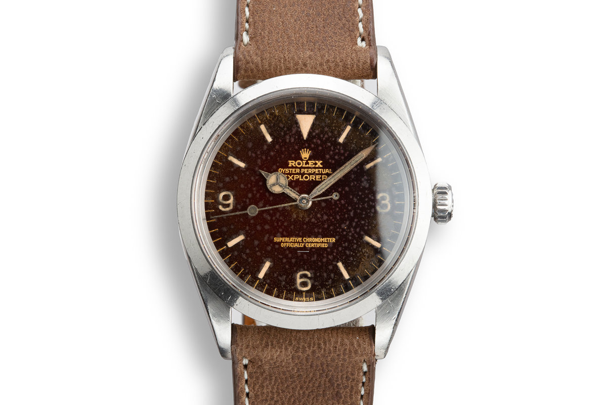 1964 Rolex Explorer 1016 with Tropical Gilt Underline Dial photo, #0