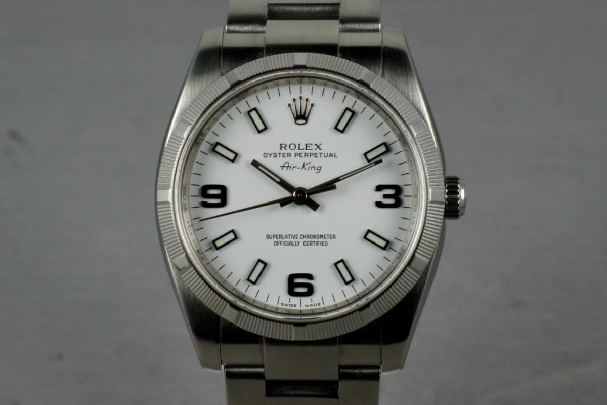 2006 Rolex Air-King 114210 with Box and Papers photo, #0