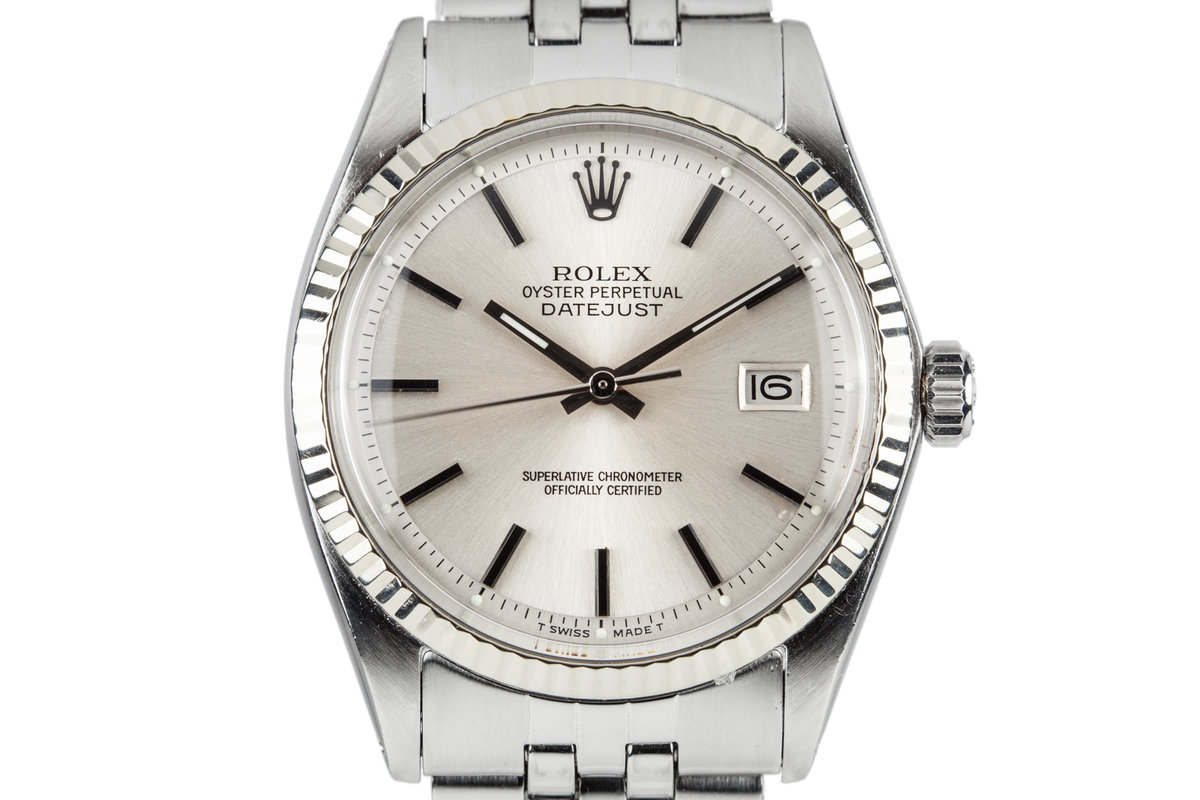 1972 Rolex DatJust 1601 Silver Dial photo, #0
