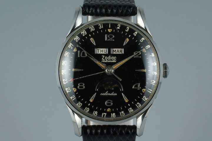 1958 Zodiac Triple Date Moonphase Automatic with Box and Papers photo
