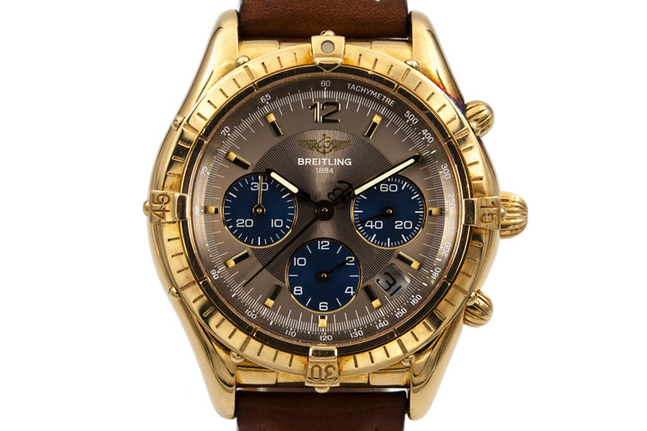 Breitling Brown Dial K30012 owned by Reggie Jackson from the New York Yankees photo