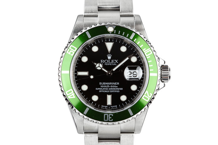 2007 Rolex Green Submariner 16610 with Box photo