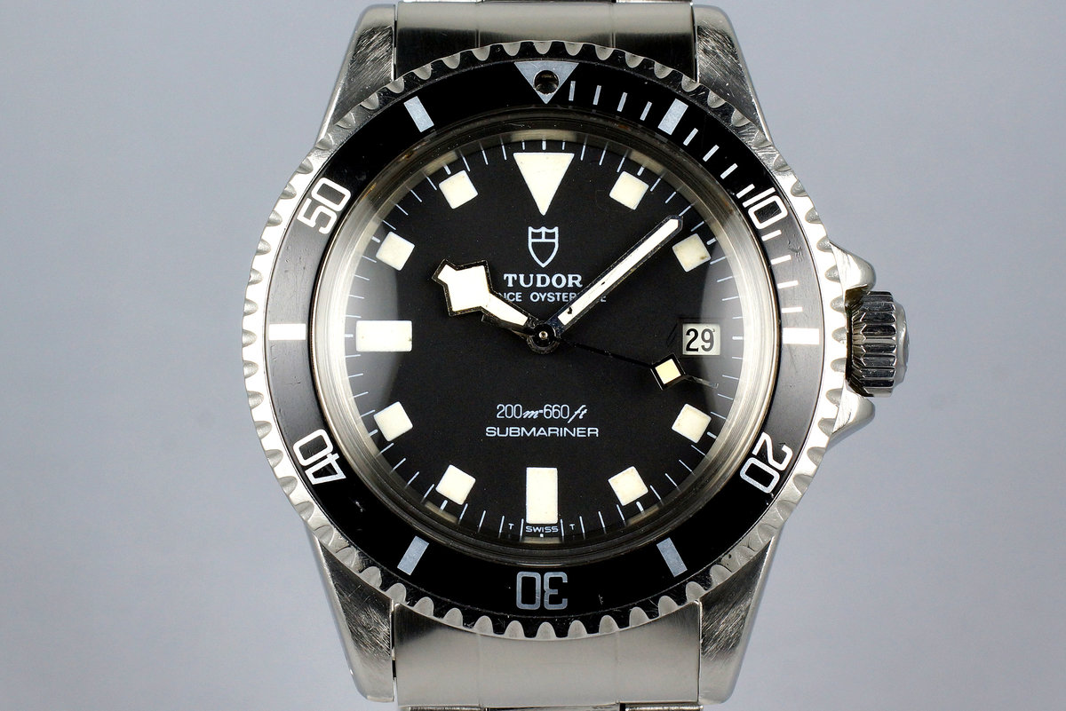 1981 Tudor Submariner 94110 Black Snowflake with Box photo, #0
