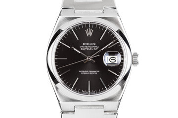 1978 Rolex OysterQuartz DateJust 17000 Black Dial photo