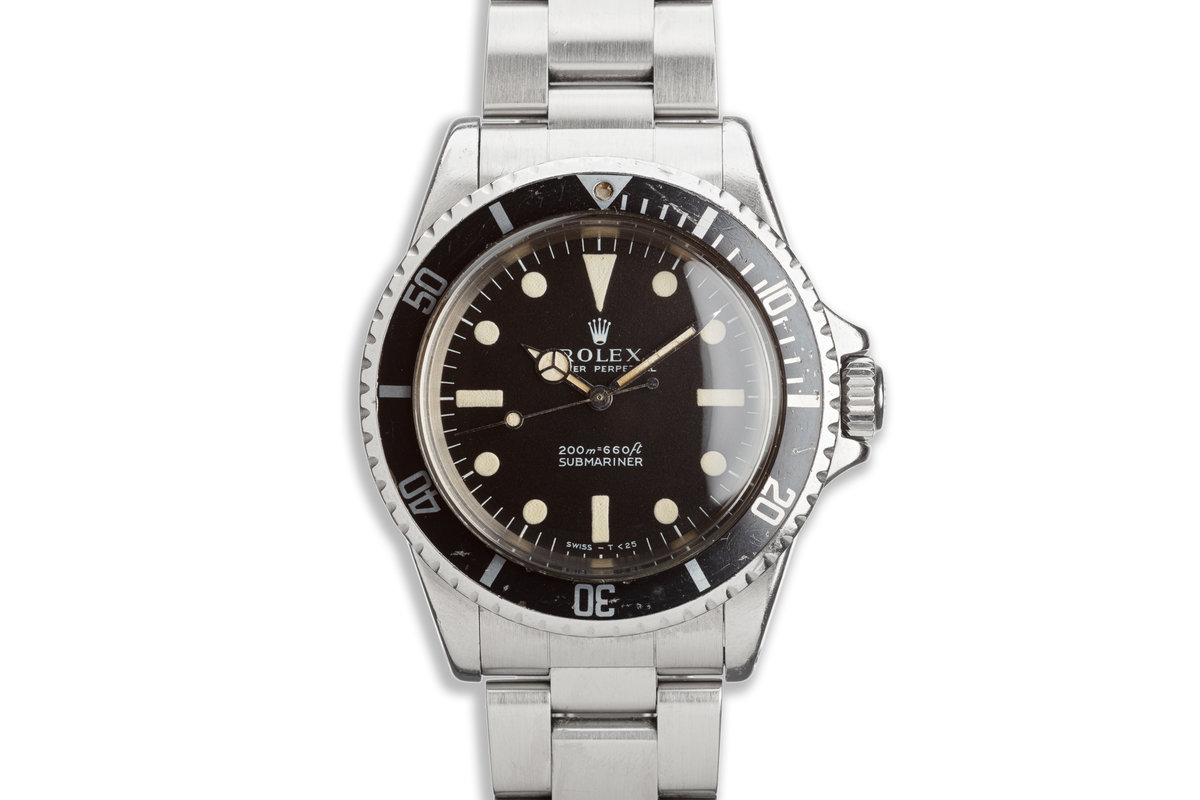 1969 Vintage Rolex Submariner 5513 Meters First Dial photo, #0