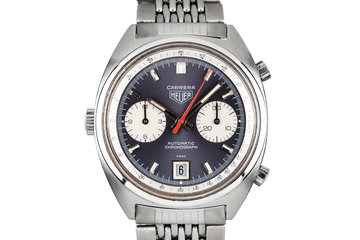 1970s Heuer Carrera 1153N with Lavender Dial photo