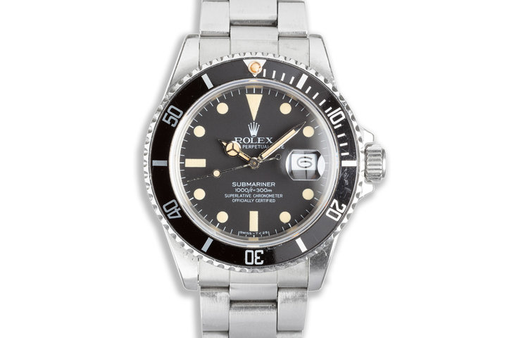 1983 Unpolished Rolex Submariner 16800 with Box & Papers photo