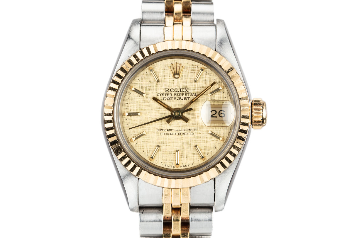1986 Ladies Rolex Two-Tone DateJust 69173 with Box and papers photo, #0
