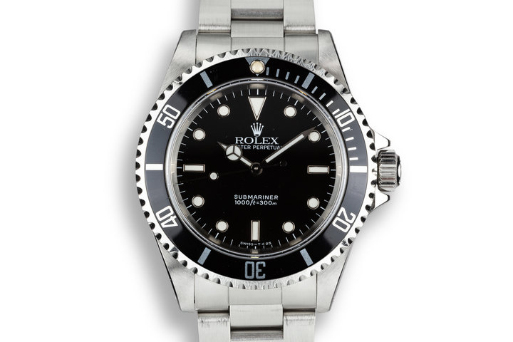1991 Rolex Submariner 14060 with Box, Papers, and Service Papers photo
