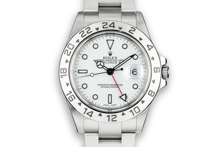 2001 Rolex Explorer II 16570 White Dial photo