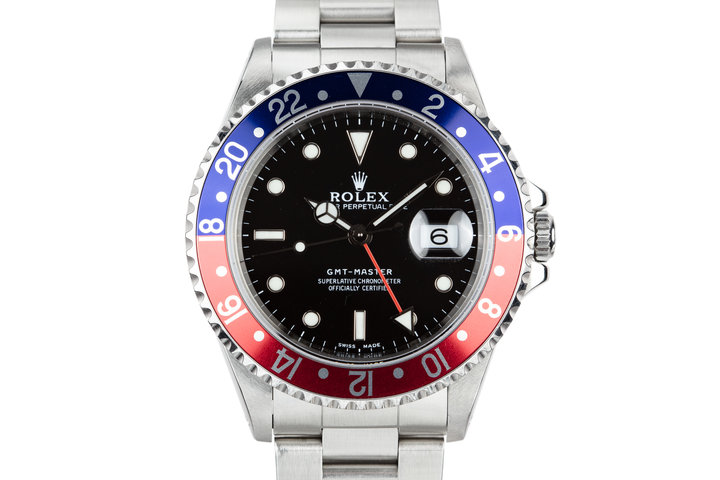 "1999 Rolex GMT-Master 16700 ""Pepsi"" with Service Papers photo"