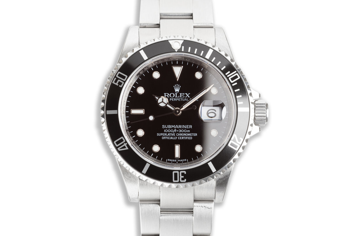 2008 Rolex Submariner 16610 with Box & Card photo, #0