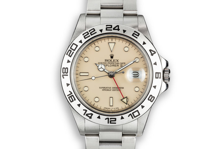 1986 Rolex Explorer II 16550 Cream Rail Dial photo