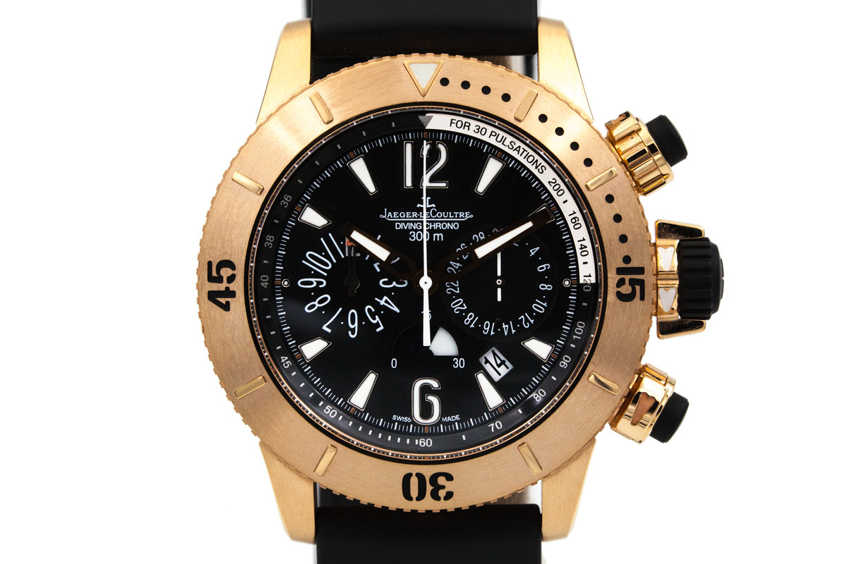 2015 Jaeger LeCoultre Rose Gold Diving Chrono Q1862640 with Box and Papers photo, #0
