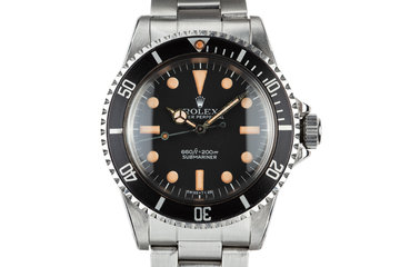 1977 Rolex Submariner 5513 with MK I Maxi Dial photo