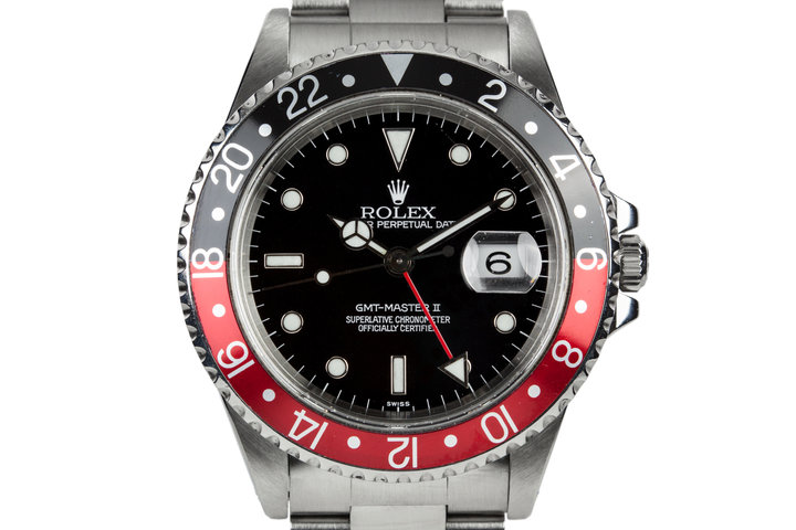 """1999 Rolex GMT-Master II 16710 with """"Coke"""" Bezel and Swiss Only Dial photo"""