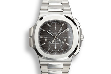 2018 Patek Philippe Nautilus Travel Time Chronograph 5990/1A-001 Grey Dial with Box and Papers photo
