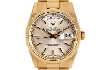 2002 Rolex YG Day-Date 118238 with Box photo