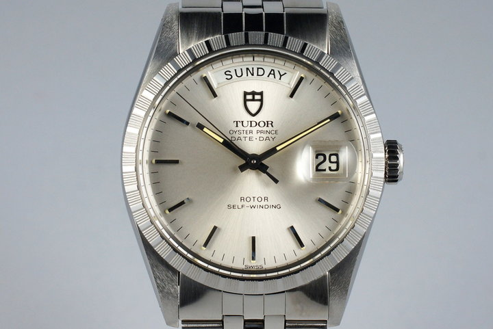 1988 Tudor Date-Day 94510 Silver Dial with Box and Papers photo