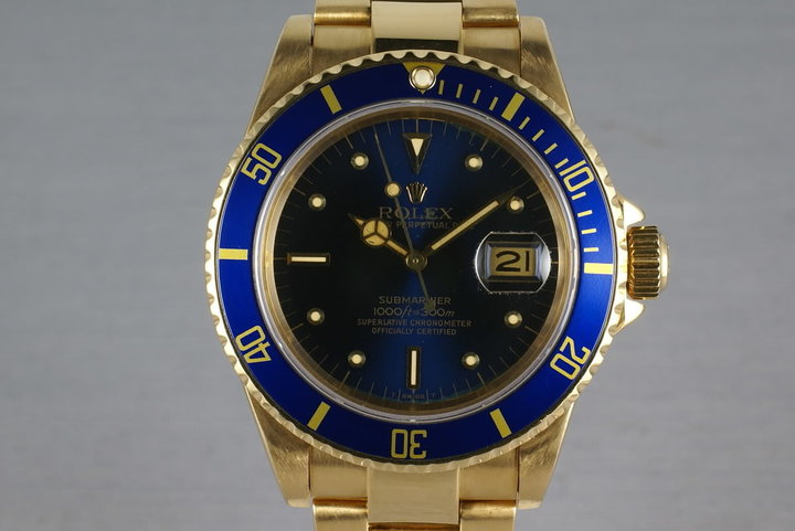 Submariner 18K  16808 Blue Nipple Dial photo