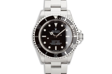 2008 Unpolished Rolex Submariner 14060M 4 Line Dial with Box and Papers photo