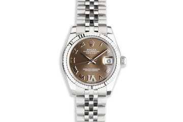 2021 Midsize 31mm Rolex Datejust 178274 Diamond 'VI' Gray Dial with Box & Card photo