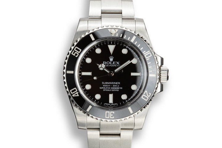 2013 Rolex Submariner 114060 with Box and Papers photo