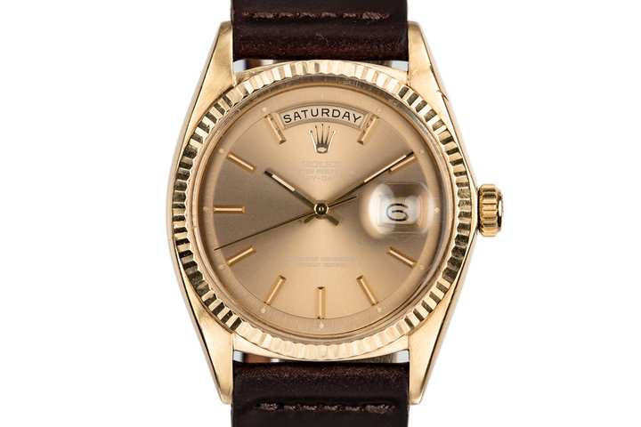 "1971 Rolex 18K YG Day-Date 1803 with Brown ""London Sky"" Sigma Dial photo"
