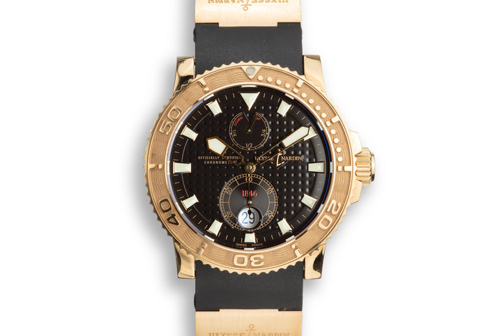 Ulysse Nardine 18K Rose Gold Marine Diver 266.33 photo