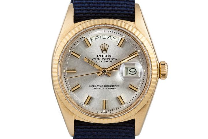 1971 Rolex YG Day-Date 1803 Silver 'Wide Boy' Sigma Dial photo
