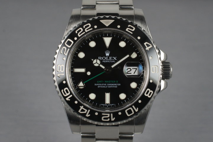 2006 Rolex GMT II 116710N with Box and Papers photo