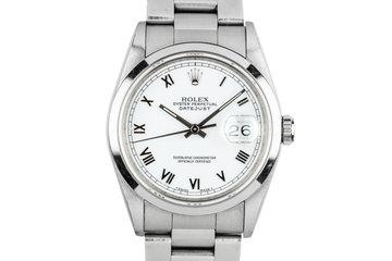 1993 Rolex DateJust 16200 White Roman Dial photo