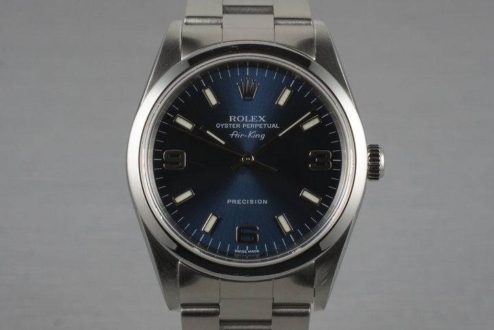 2001 Rolex Air-King 14000M with Blue 3-6-9 Dial photo
