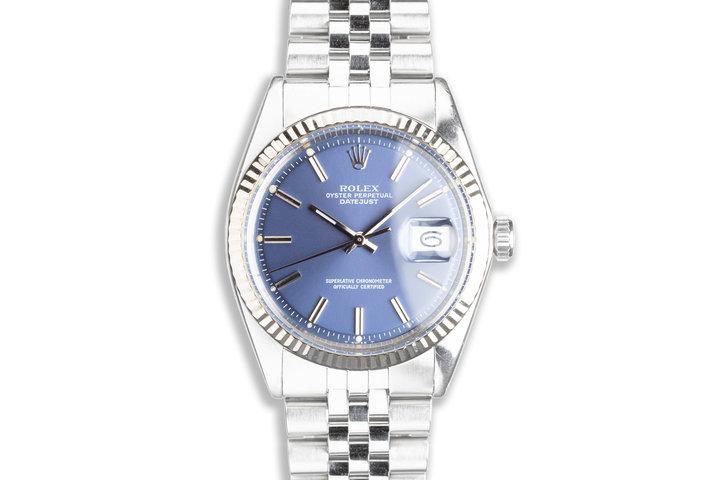 1972 Vintage Rolex DateJust 1601 Blue Dial photo