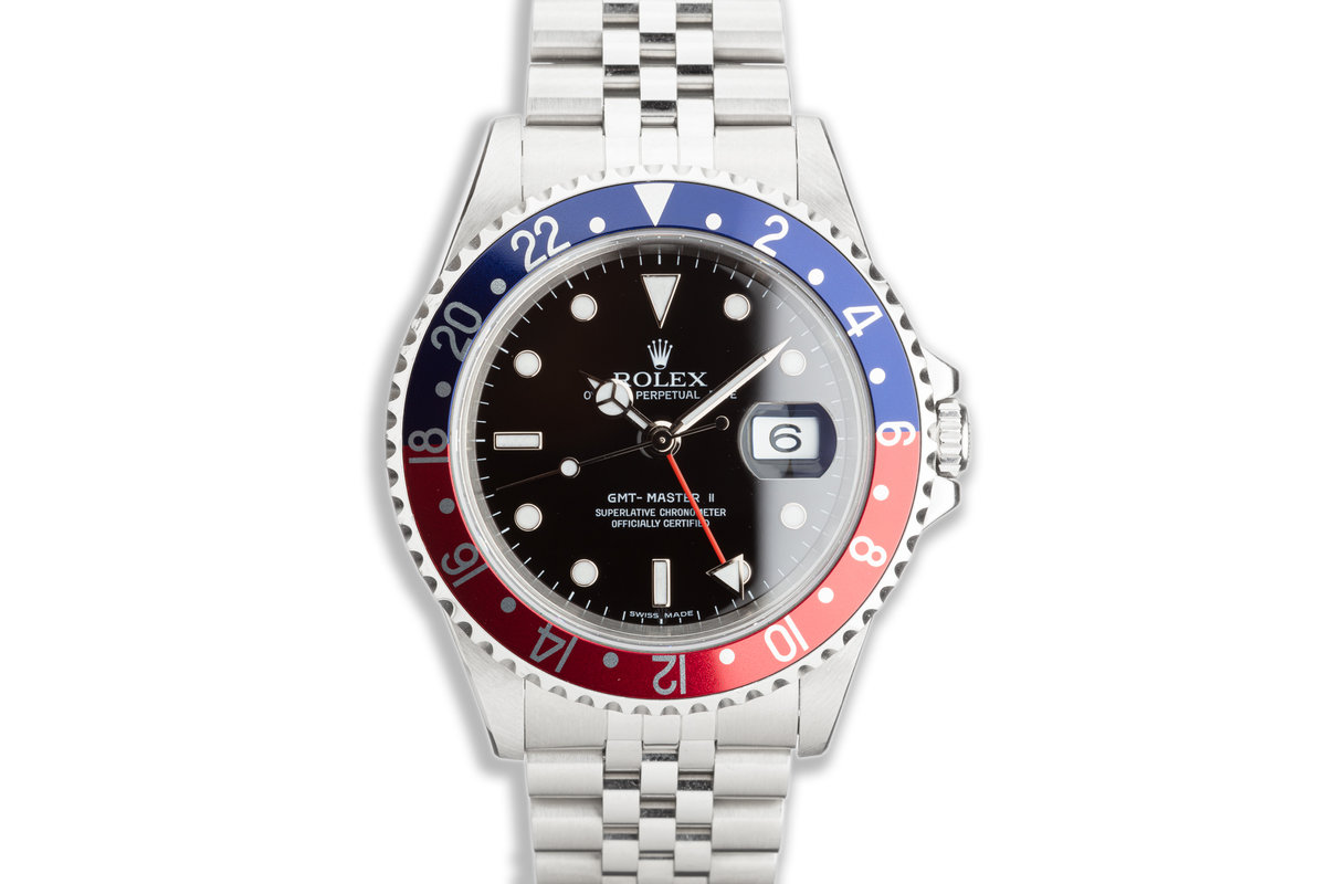 """2006 Rolex GMT-Master II 16710 T """"Pepsi"""" """"Error-Dial"""" with Box & Papers photo, #0"""