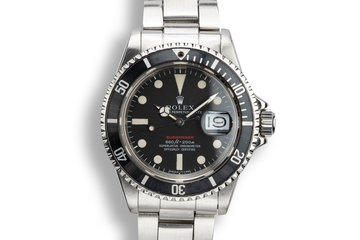 1970 Rolex Red Submariner 1680 MK IV Dial with Service Papers photo