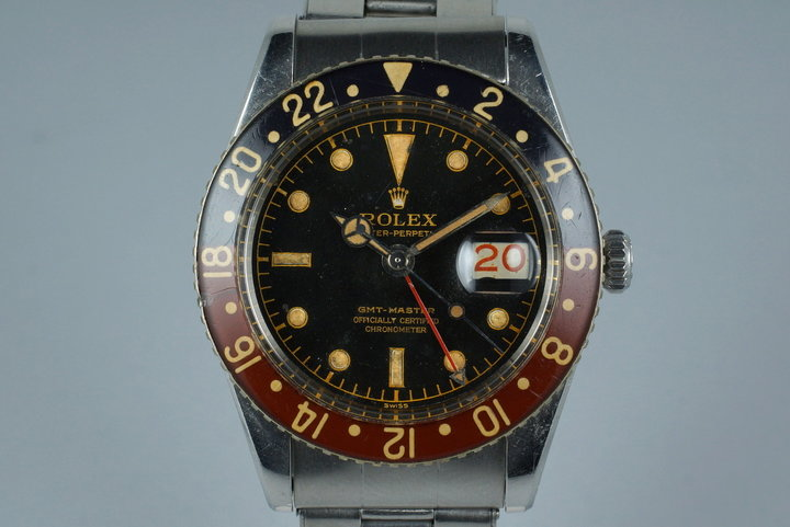 1958 Rolex GMT 6542 Glossy Gilt Chapter Ring with BAKELITE Bezel photo