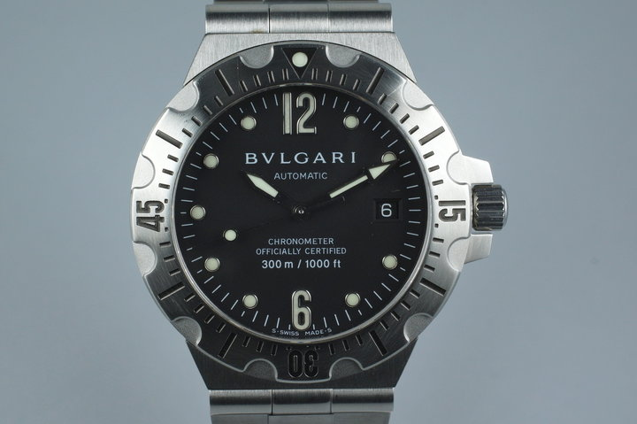 Bvlgari Scuba Diagono Professional SD40S with Papers photo