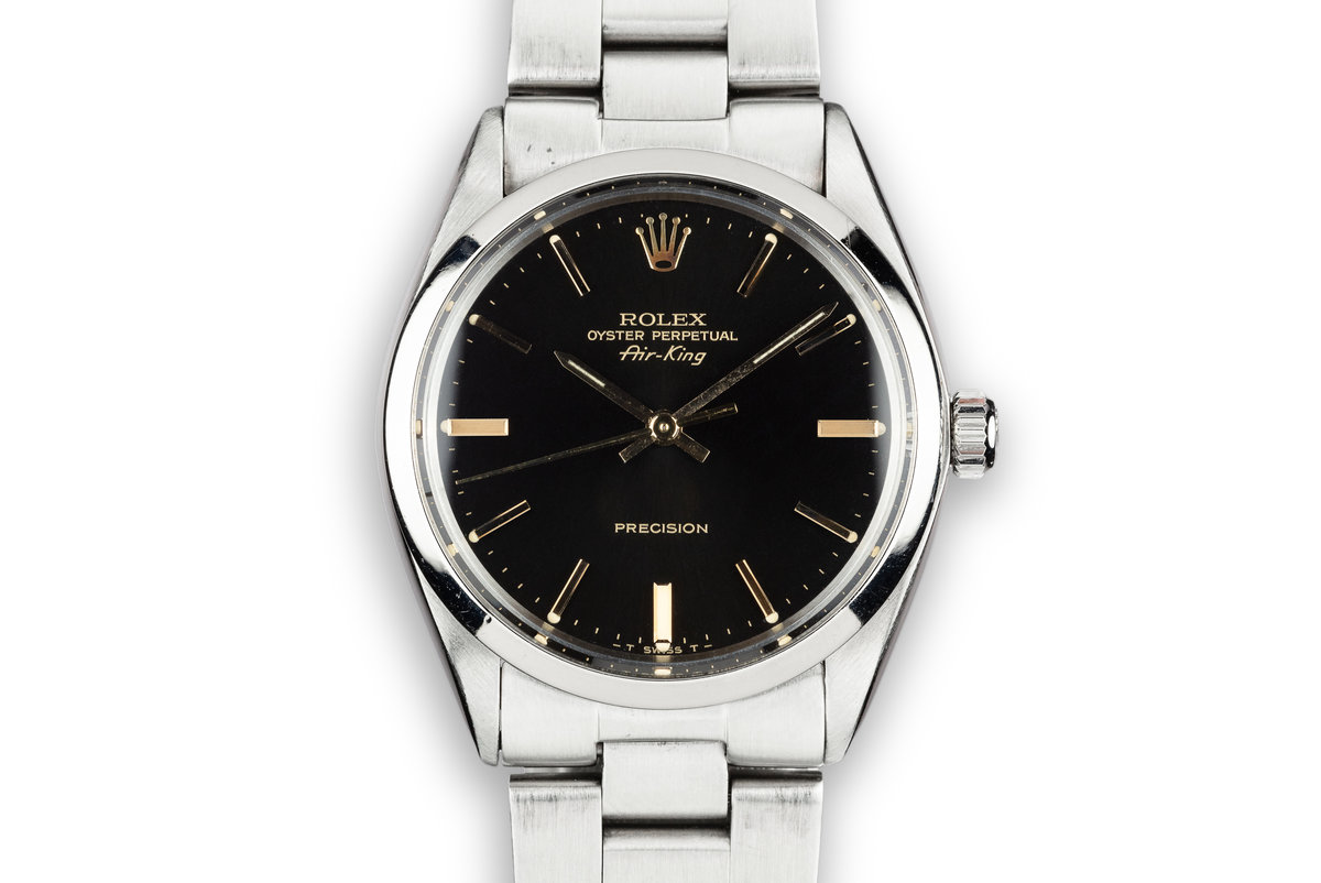 1981 Rolex Air-King 5500 Black Dial with Service Papers photo, #0