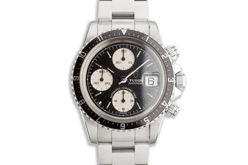 1991 Tudor Chronograph Big Block 79170 Black & White Dial photo