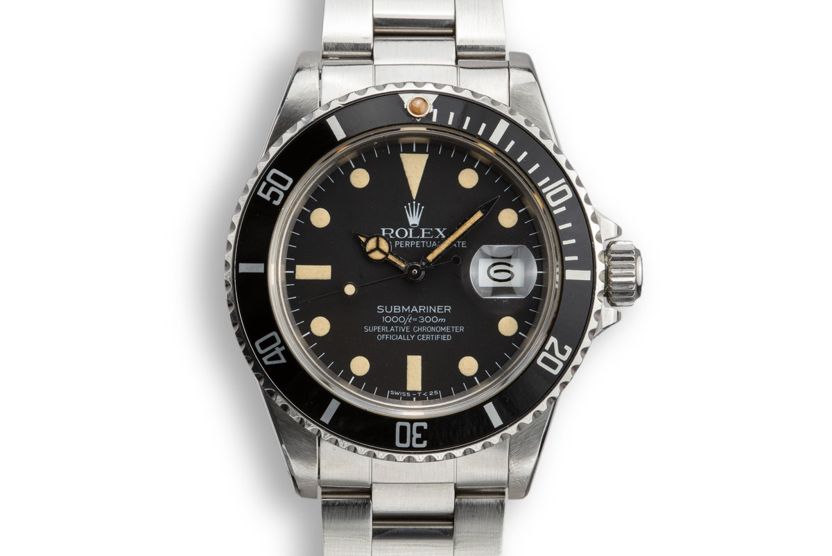 1982 Rolex Submariner 16800 Mate Dial with Papers photo, #0